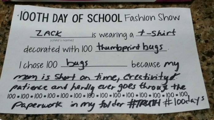 The '100 days of school' project