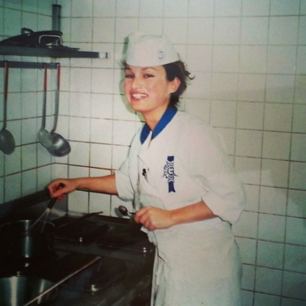 Giada De Laurentiis as a young chef