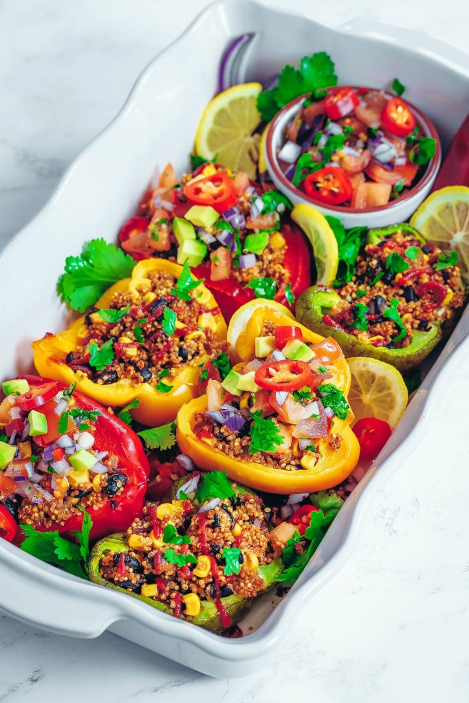 Nadia's Healthy Kitchen Mexican quinoa-stuffed peppers