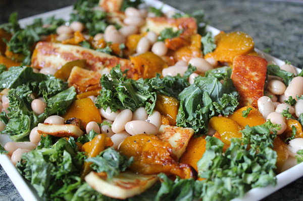 pumpkin and cannellini bean salad