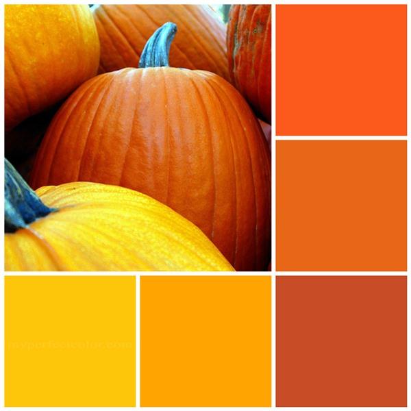 Pumpkin patch color scheme