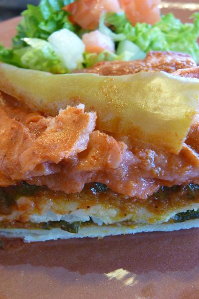 Pumpkin and spinach enchiladas