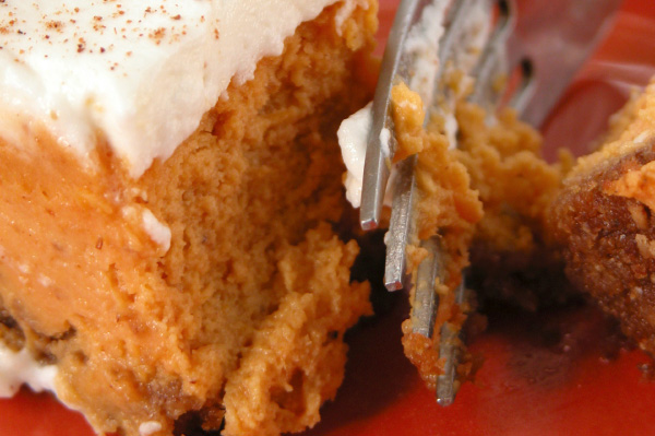 pumpkin cookie and fork