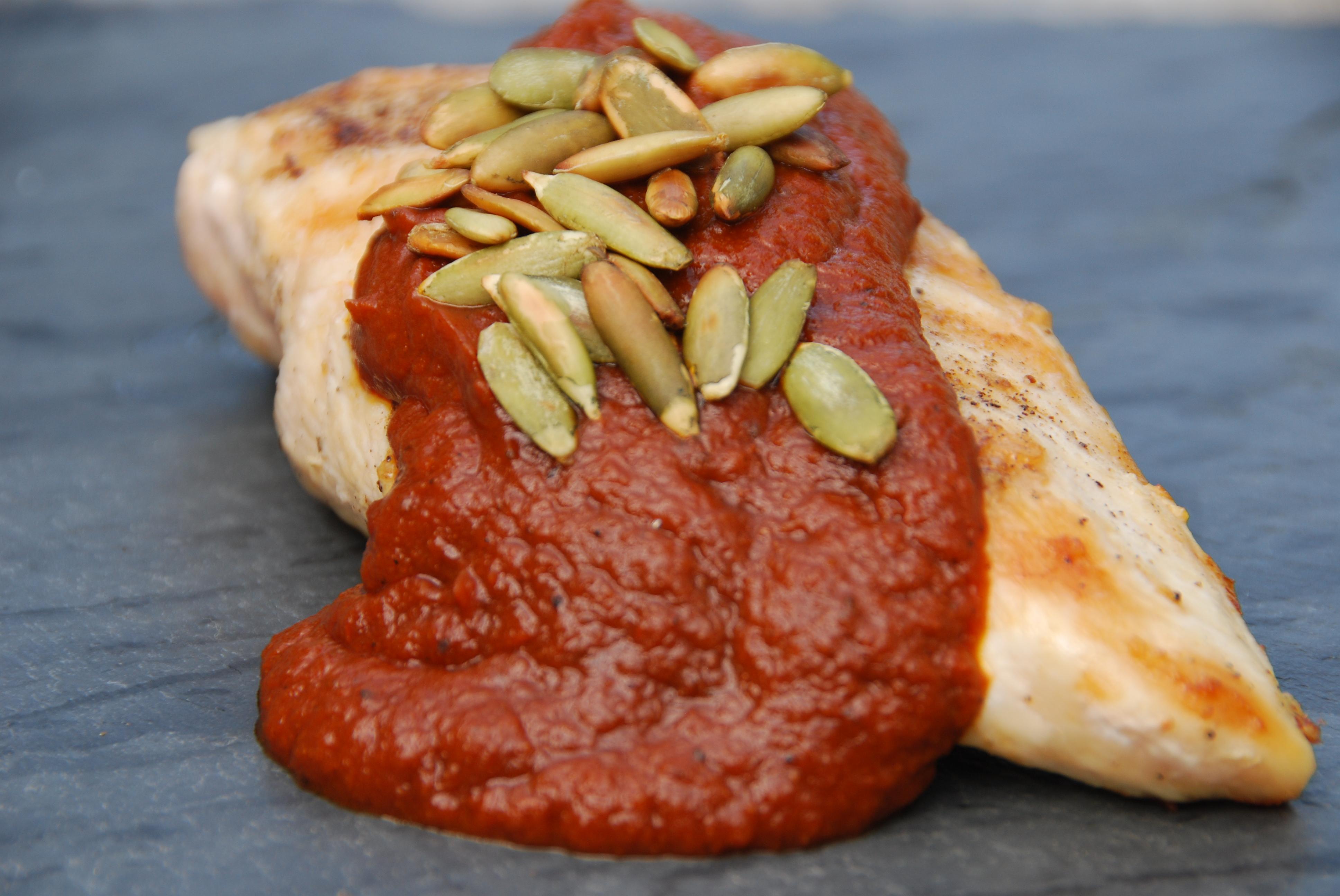 pumpkin and ancho chile mole
