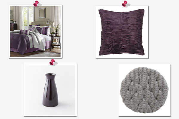 Get the look: Grey and Purple collage