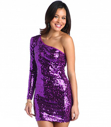 sexy purple one-shoulder sequin dress from Baby Phat ($80, babyphat.com)