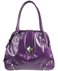 Purple studded bag