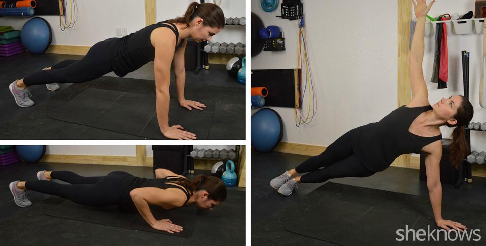 Rotating pushups
