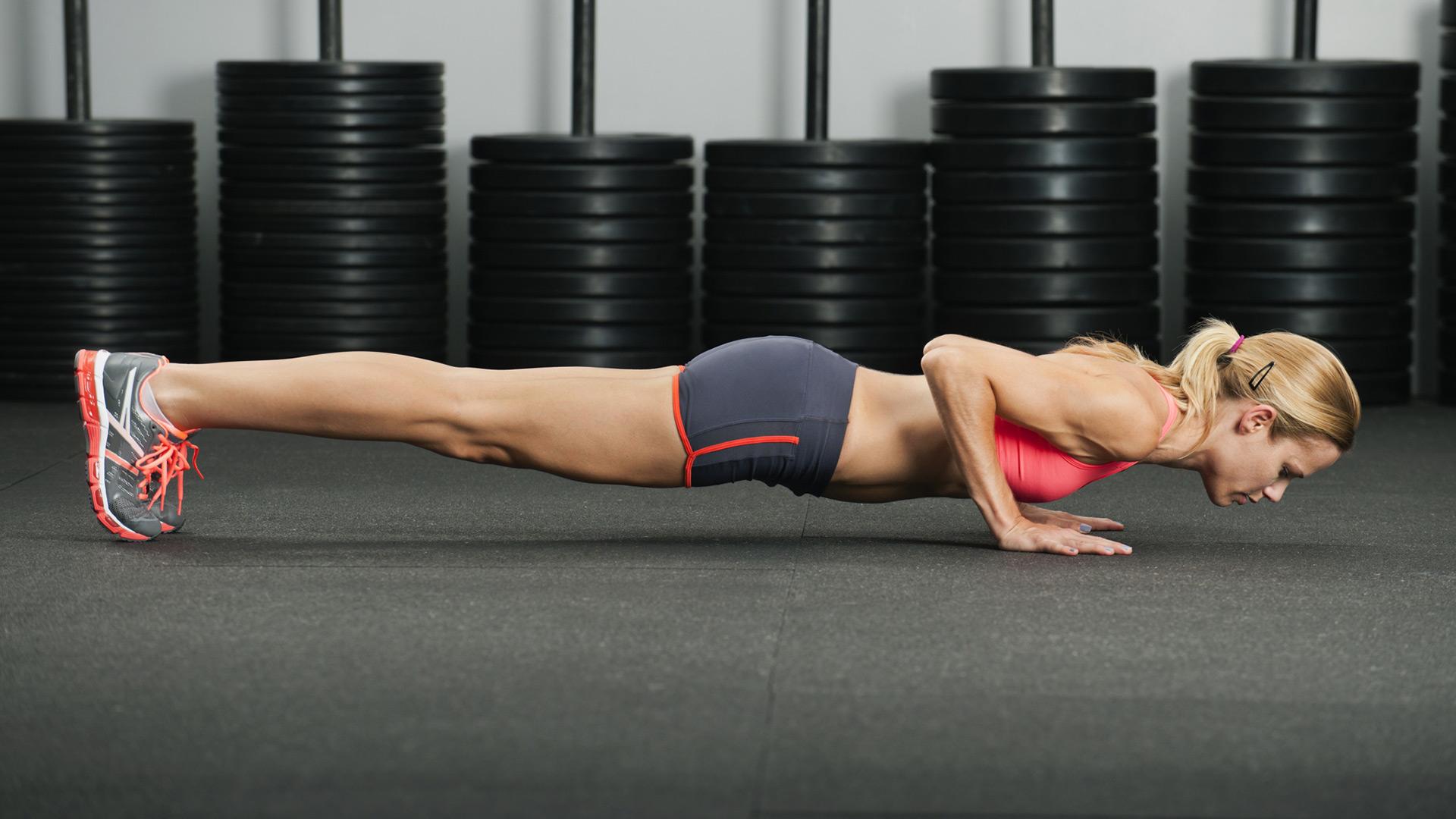 Woman doing pushups | Sheknows.com