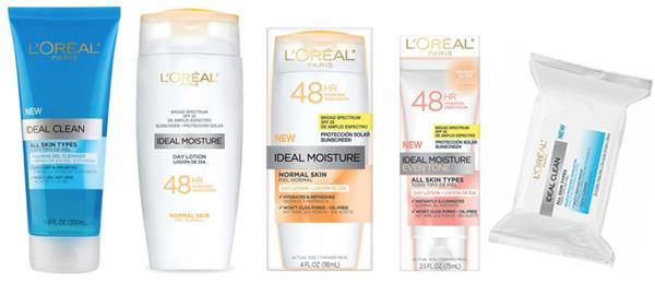 L'Oreal Ideal skincare line