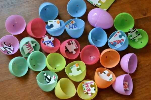Puzzle easter egg hunt