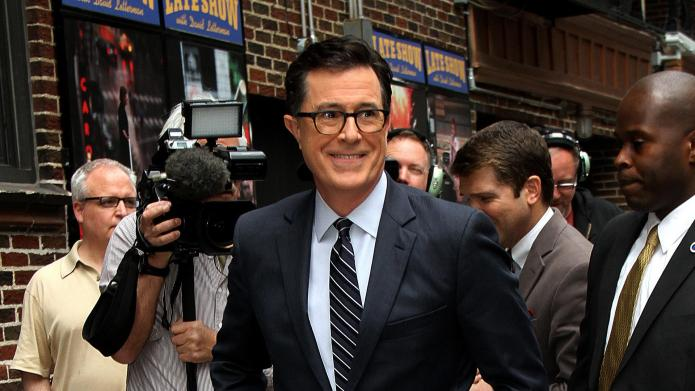 VIDEO: Stephen Colbert gives girls the