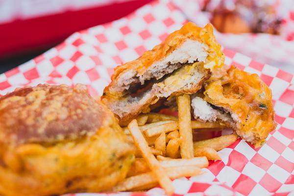 Deep-fried White Castle burgers