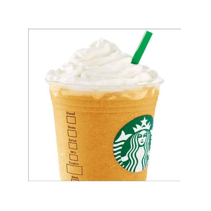 Lúcuma Crème Frappuccino Starbucks