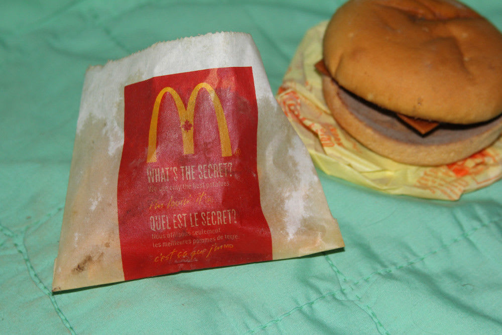 6-year-old McDonald's burger and fries