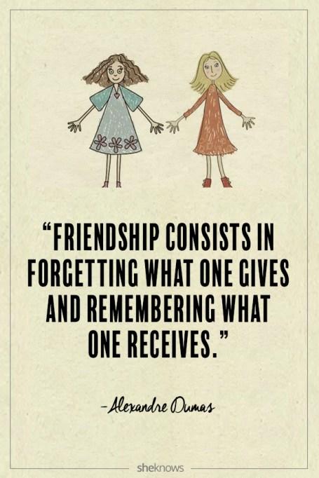 Alexandre Dumas quote about friendship