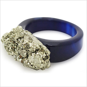 pyrite cocktail ring