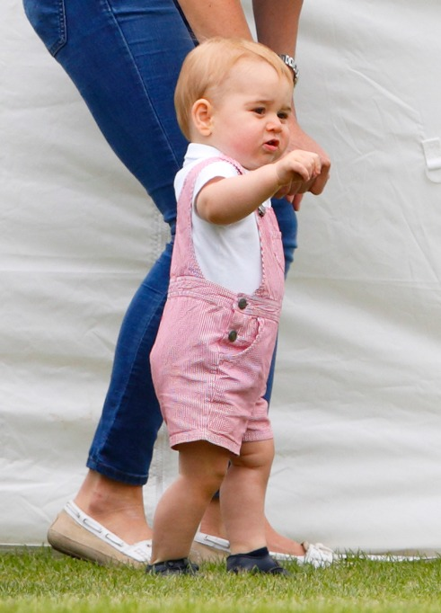Prince George at a polo match