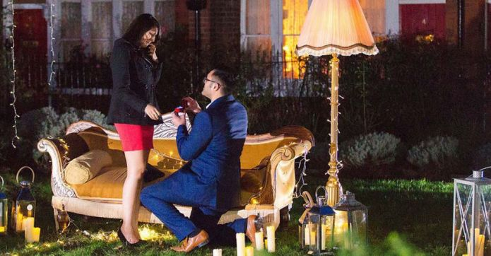 Man plans the perfect proposal for
