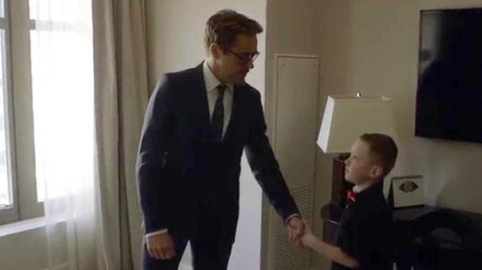 Robert Downey Jr. gives little boy