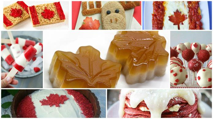 Canadian flag-inspired treats