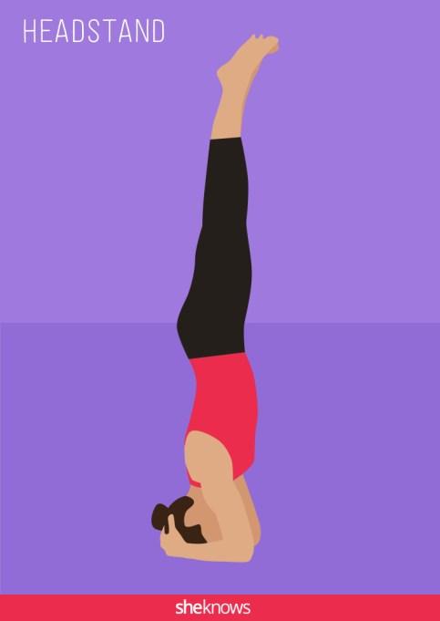 Headstand yoga pose illustration