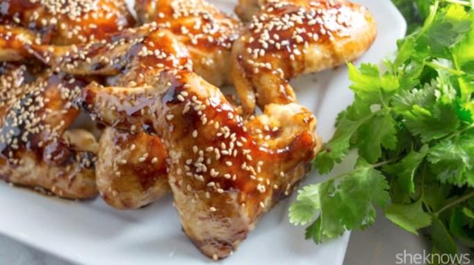 Teriyaki chicken wing drumettes
