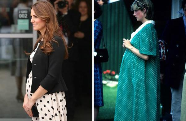 Royal maternity style: Kate Middleton and