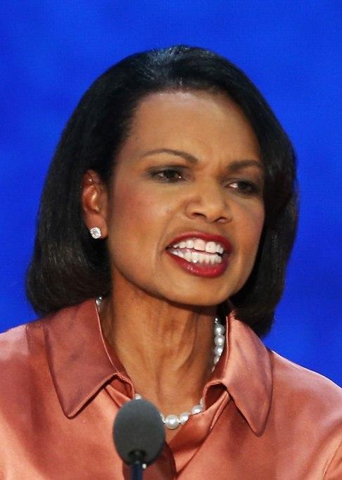 Celebs with lipstick of their teeth: Condoleezza Rice | Beauty Fails