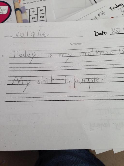funny child spelling error