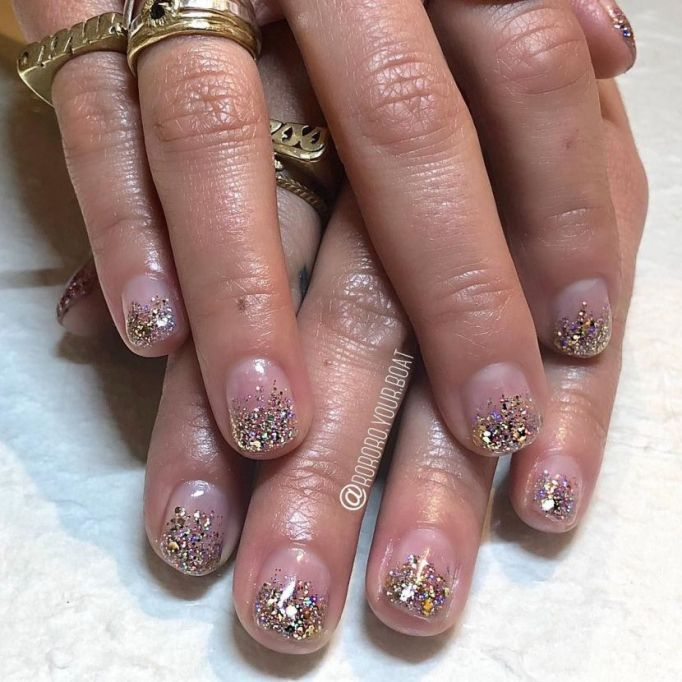 Sprinkled Tips Nail Art