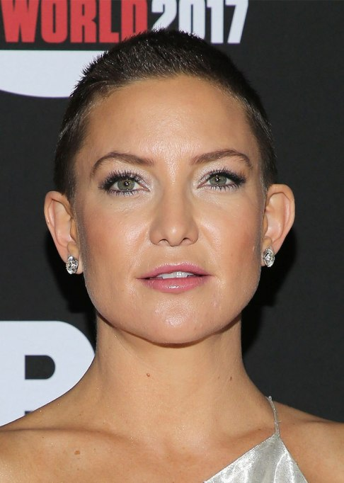 Best Celebrity Hair Transformations of 2017: Kate Hudson with a buzz cut for a film role