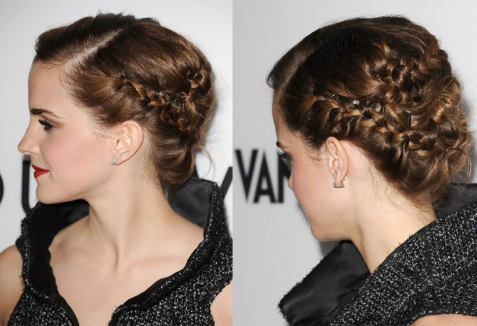 Best Celebrity French Braids: Emma Watson's Intricate Multi Layered French Braid | Celeb Hairstyles 2017