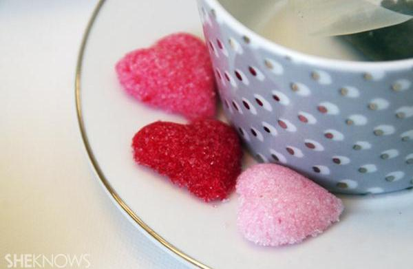 Valentine's Day DIY sugar cubes