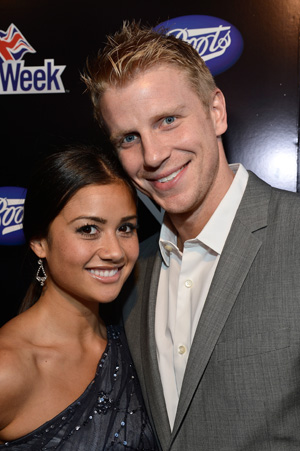 Sean Lowe and Catherine Giudici at the Boots No7 for Men launch