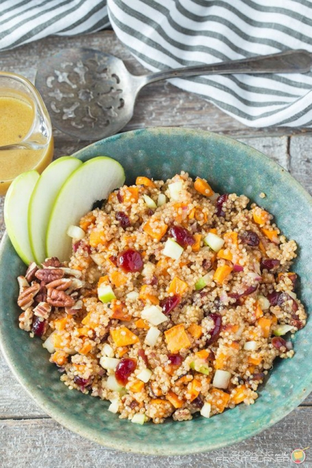 15 Healthy grain bowls to whip together: Apple Sweet Potato Quinoa Salad | Fall Eating 2017