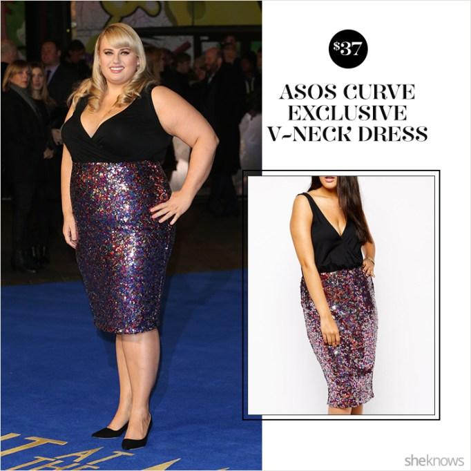 Rebel Wilson in ASOS sequin dress