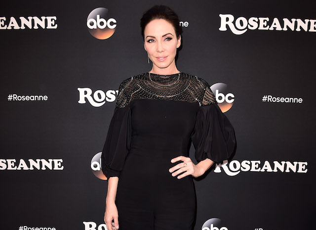 Whitney Cummings attends the premiere of ABC's 'Roseanne' at Walt Disney Studio Lot