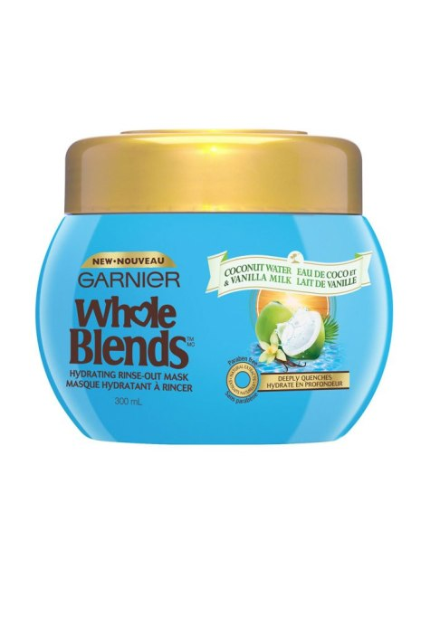 Best Under $20 Hair Masks | Garnier Whole Blends Hydrating Mask with Coconut Water & Vanilla Milk