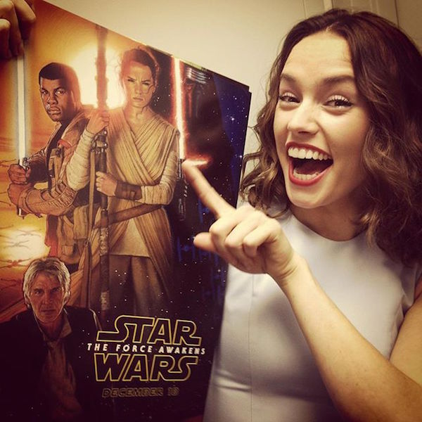 Daisy Ridley is very grateful for her Star Wars success