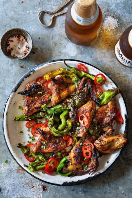 Grilled Chicken With Shishito Peppers