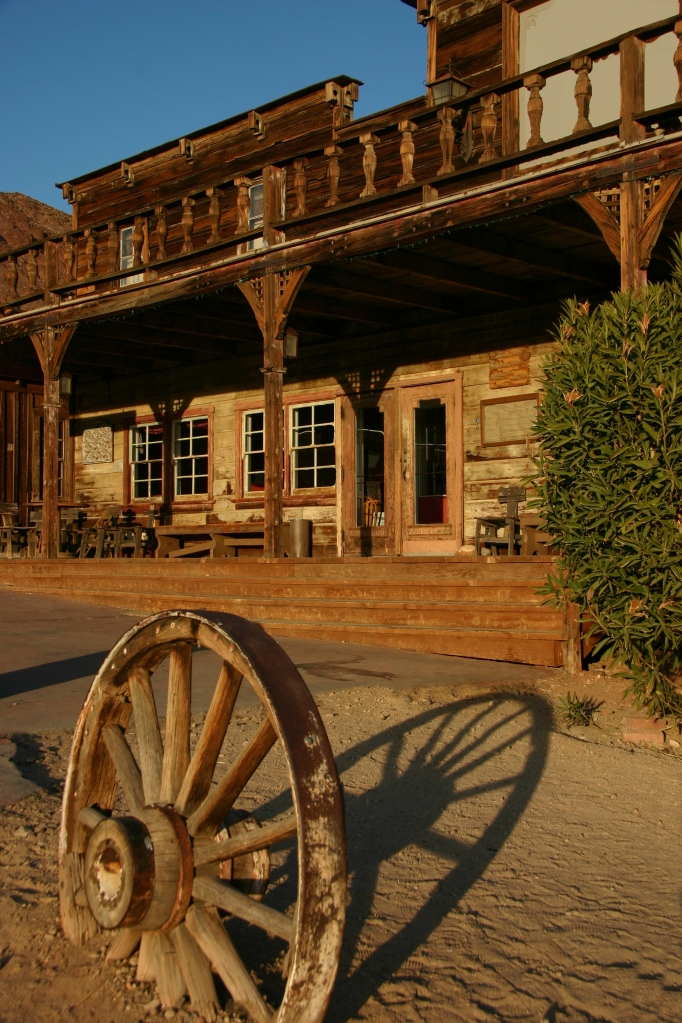 An old west town in California