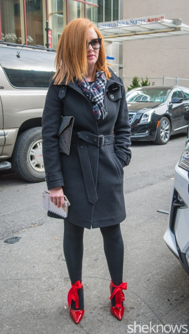Burberry jacket and H&M pumps