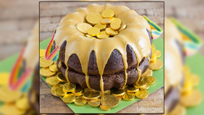 Pot of gold Bundt cake will