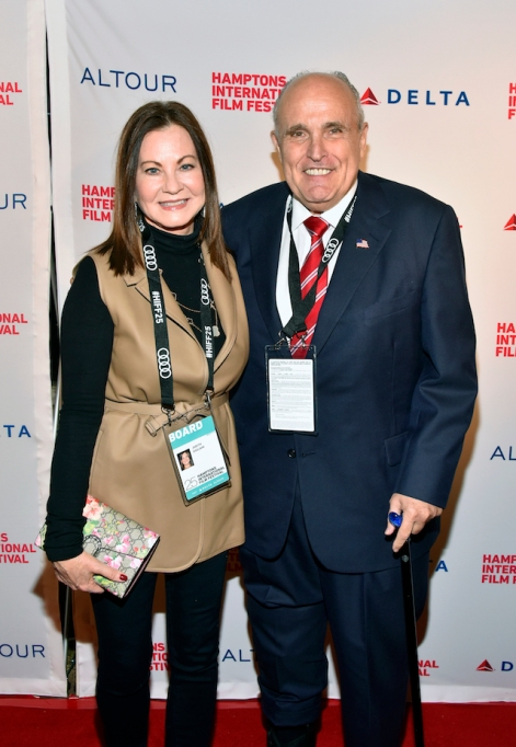 Rudy & Judith Giuliani attend the opening night red carpet for 'Itzhak' during Hamptons International Film Festival 2017