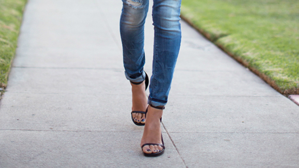 What shoes to wear with skinny