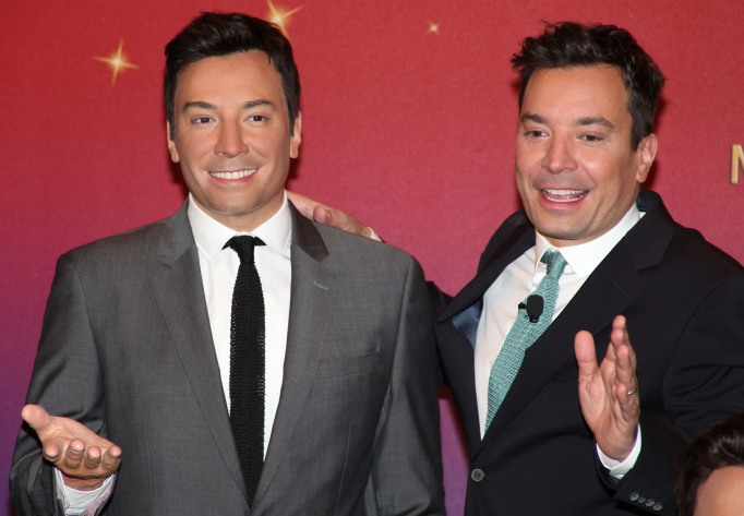 Jimmy Fallon and his wax figure