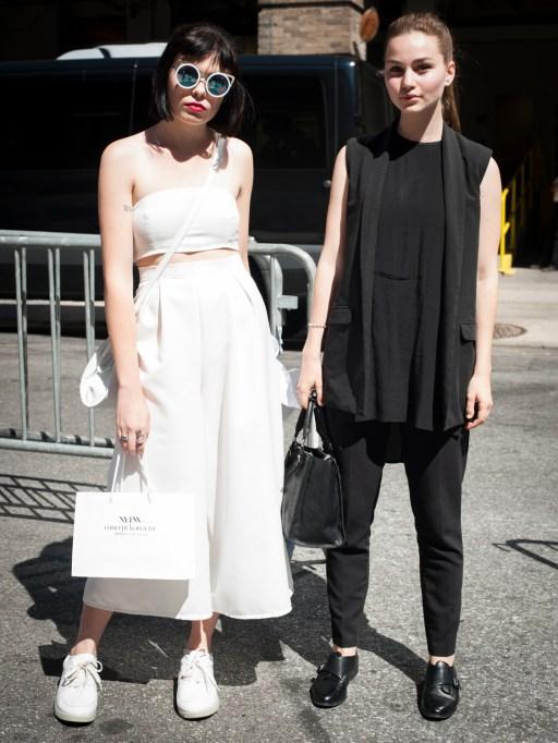 Fashion week street style black and White