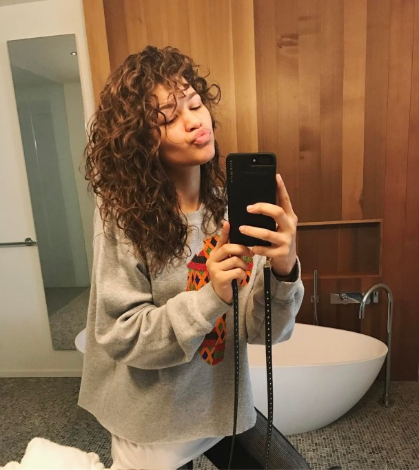 Celebrities Who Embraced Their Natural Hair Texure: Zendaya
