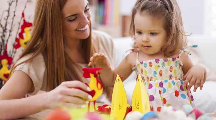 Animal-themed Easter crafts for kids are